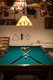 Man Cave Pool Table Royalty Free Stock Photo