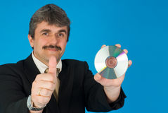 Man with cd Royalty Free Stock Image