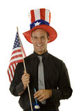 Man celebrating 4th of July stock photo