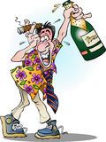 A man celebrating crazy Stock Image