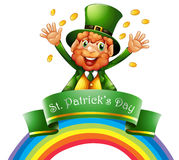 A man celebrating the day of St. Patrick Stock Photography