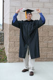 Man Celebrating Graduation Stock Images