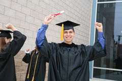 Man Celebrating Graduation Stock Image