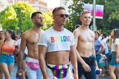 Madrid, Spain - 07 July 2019 - Gay Pride, Orgullo Gay Parade stock image