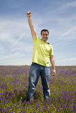 Man celebrating success Royalty Free Stock Photography