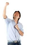 Man celebrating a victory Royalty Free Stock Image