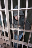 Man in a Cell Royalty Free Stock Photography