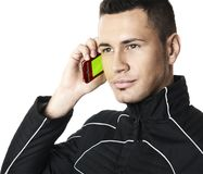 Man with cell phone #1 | Isolated Stock Image