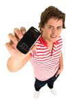 Man with cell phone Royalty Free Stock Images