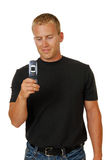 Man with a cell phone Royalty Free Stock Photography