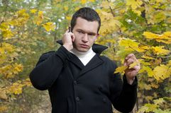 Man with cell-phone Royalty Free Stock Photo