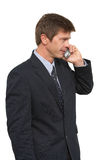 Man with cell phone. Portrait of man using mobile phone royalty free stock photography