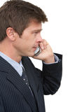 Man with cell phone. Portrait of man using mobile phone royalty free stock photo