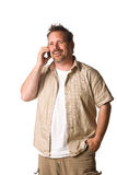 Man on cell phone. Young Man on Cell Phone. Happy Expression Stock Photography