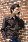 Man on cell phone. Royalty Free Stock Images