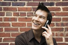 Man on cell phone. Royalty Free Stock Image