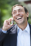 Man on cell phone Royalty Free Stock Photos