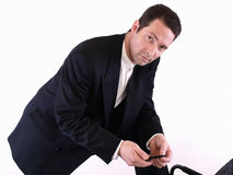 Man with Cell Phone Stock Photos
