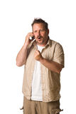 Man on cell phone - mad Royalty Free Stock Photos
