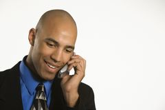 Man on cellphone. Royalty Free Stock Photography