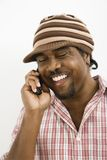 Man on cellphone. stock images