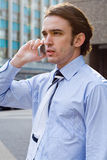 Man on cellphone Royalty Free Stock Photography