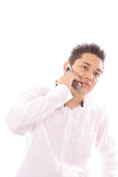 Man on cellphone Royalty Free Stock Photo