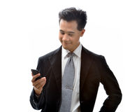 Man with cellphone Stock Image