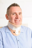 Man in cervical collar Stock Photos