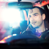 Man chaced by police Royalty Free Stock Photo