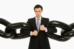 Man with chain Stock Images