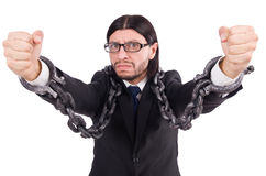 Man with chain isolated Royalty Free Stock Photos