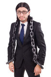 Man with chain isolated Stock Image