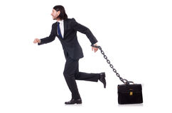 Man with chain isolated Stock Photo
