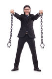 Man with chain isolated Stock Photography