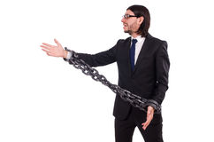 Man with chain Stock Photo