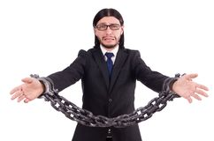 Man with chain Royalty Free Stock Photos