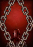 Man and chains Stock Photo