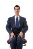 Man on chair Stock Photography
