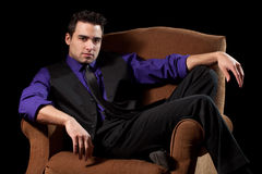 Man in Chair Stock Photo