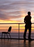 Man and chair black silhouette Royalty Free Stock Photo