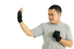 Man Challenge in body combat Stock Image