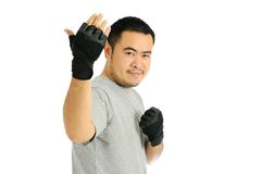Man Challenge in body combat Stock Photography