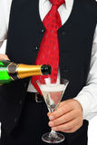 Man with champagne Royalty Free Stock Images