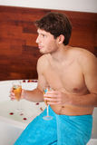 Man with champagne Royalty Free Stock Photos