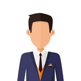 Man Character Avatar Vector in Flat Design. Royalty Free Stock Image