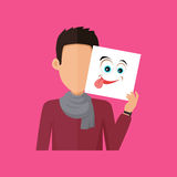 Man Character Avatar Vector in Flat Design Royalty Free Stock Photography