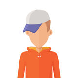 Man Character Avatar Vector in Flat Design. Royalty Free Stock Photography