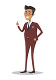Man Character in Business Suit Illustration Royalty Free Stock Photos