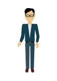 Man Character Template Vector Illustration. Royalty Free Stock Photos